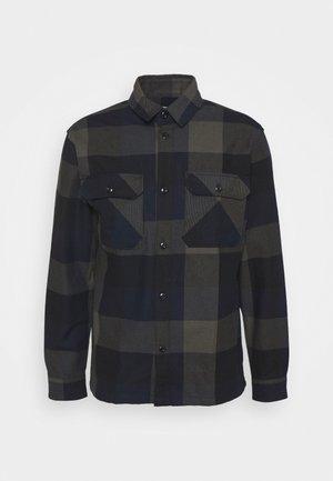 SLHLOOSEREED CHECK - Skjorta - black