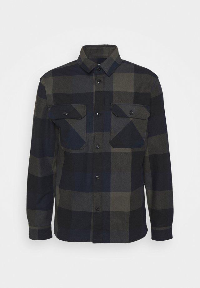 SLHLOOSEREED CHECK - Camicia - black