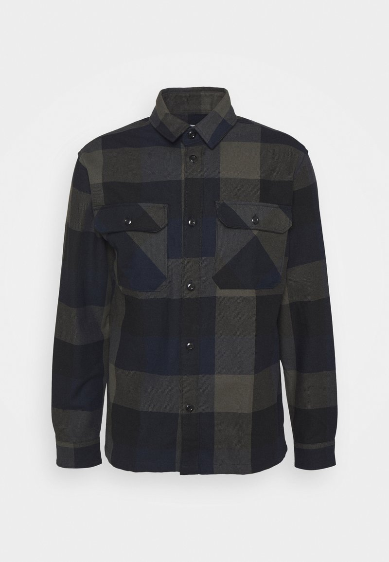 Selected Homme - SLHLOOSEREED CHECK - Shirt - black