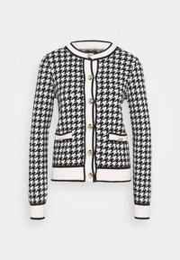 River Island - DOGTOOTH - Cardigan - black - 0