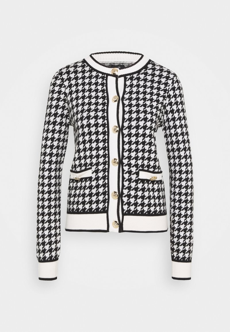 River Island - DOGTOOTH - Cardigan - black