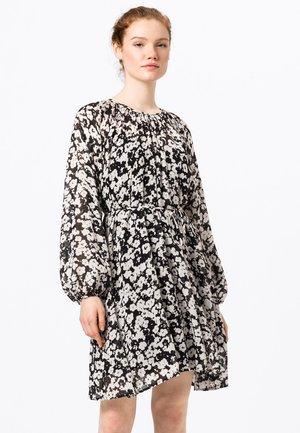 MIT STILISIERTEM BLUMENDRUCK - Day dress - schwarz
