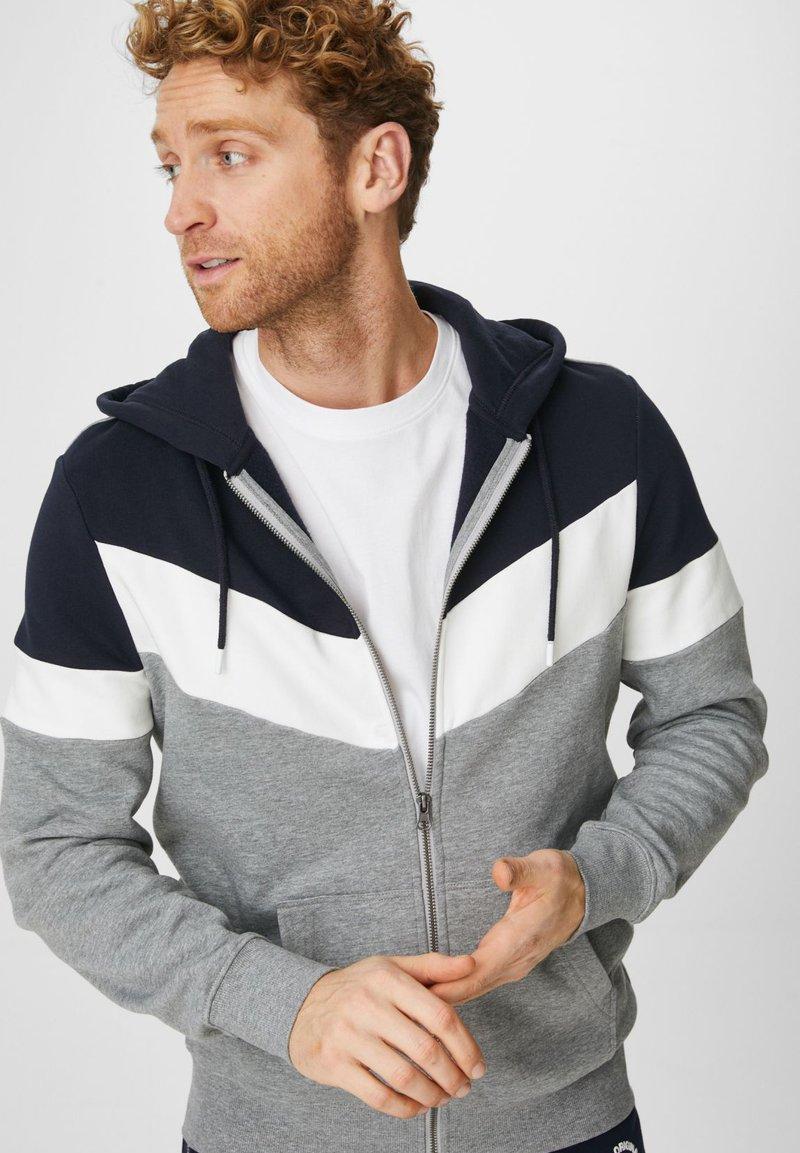 C&A - Zip-up hoodie - dunkelblau