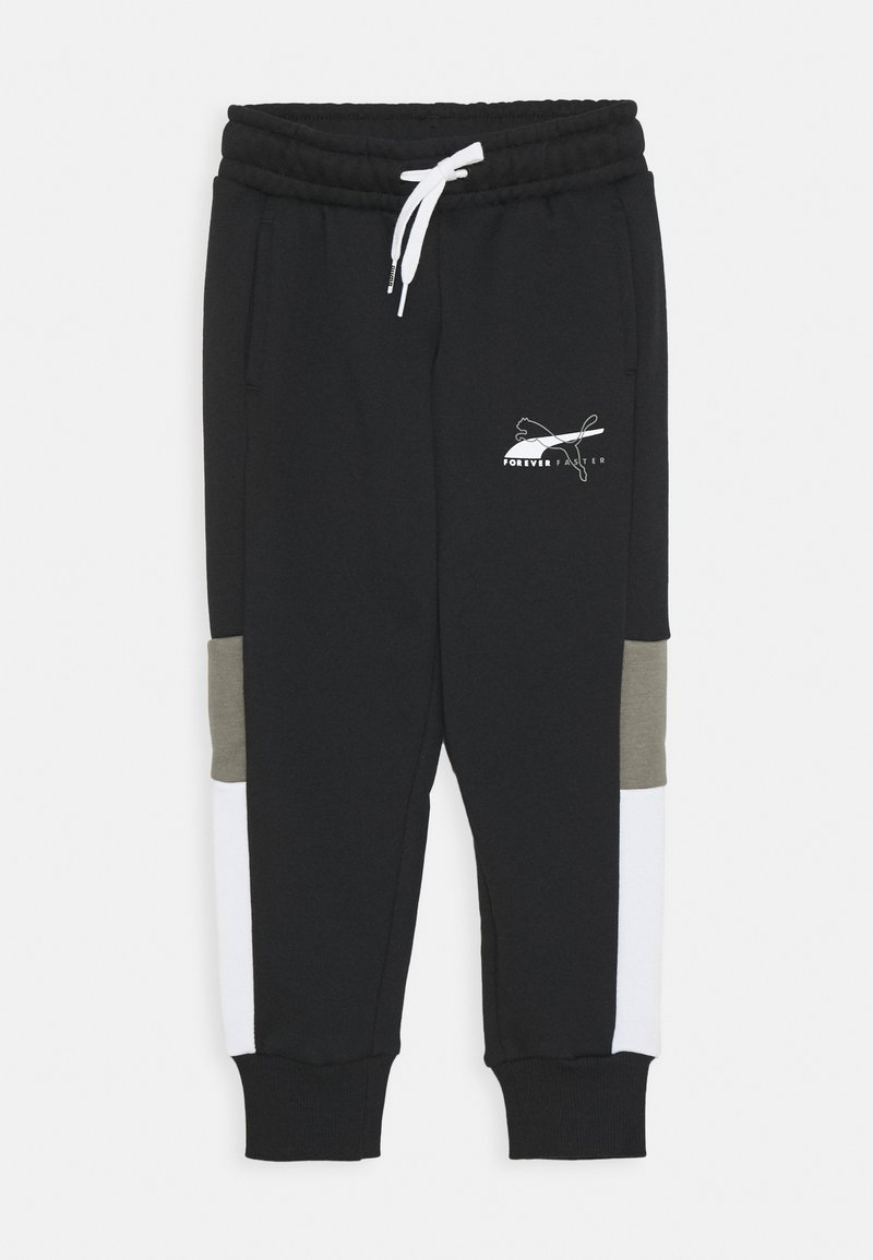 Puma - ALPHA SWEATPANTS - Tracksuit bottoms - black