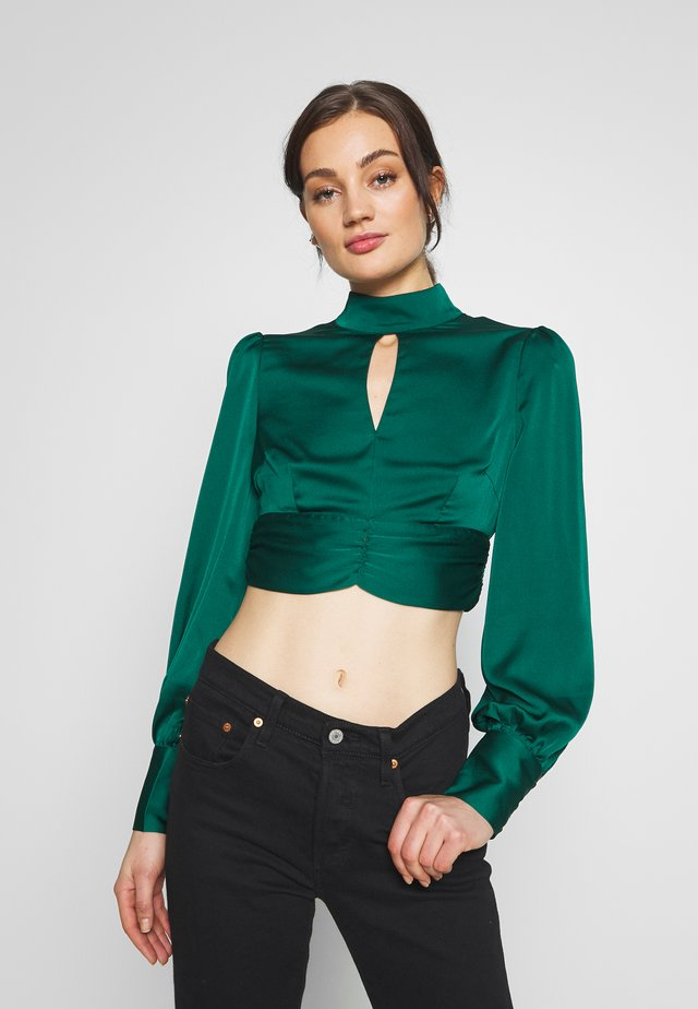 Blouse - forest green