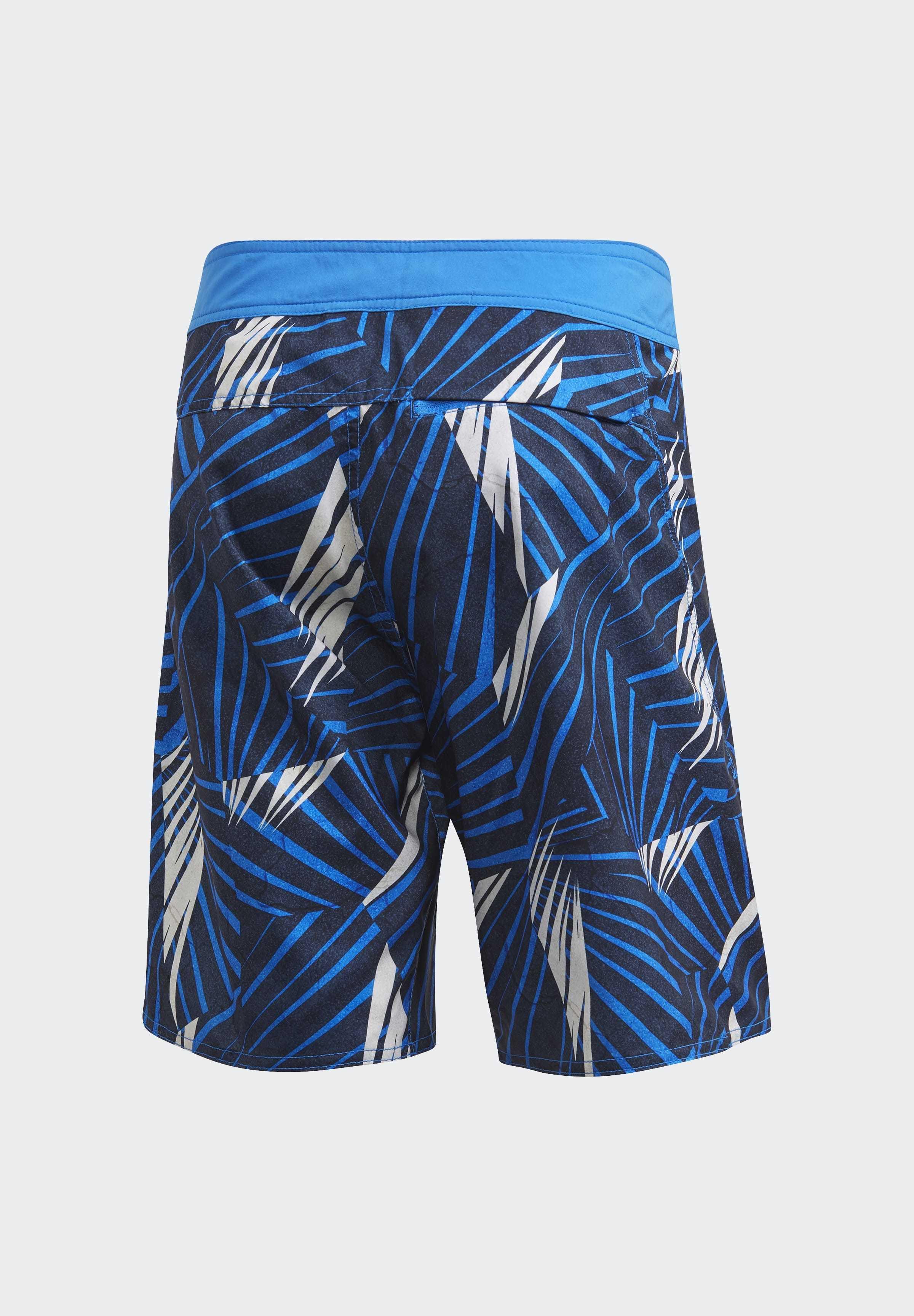 Adidas Performance Graphic Tech Swim Shorts - Blue