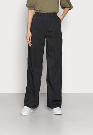 STRAIGHT LEG TROUSERS - Kangashousut - black