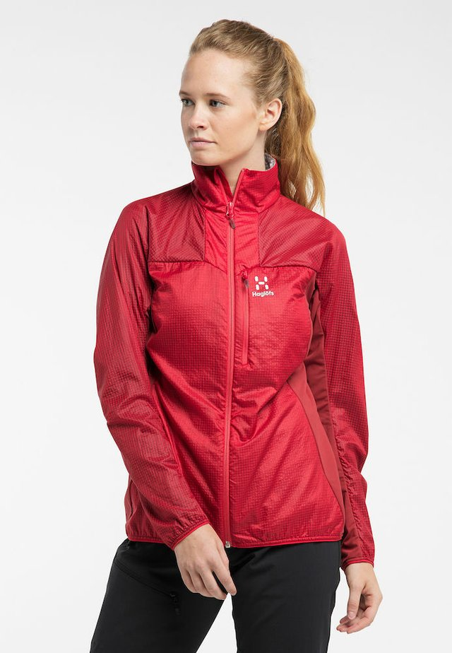 SUMMIT HYBRID JACKET WOMEN - Soft shell jacket - hibiscus red/brick red