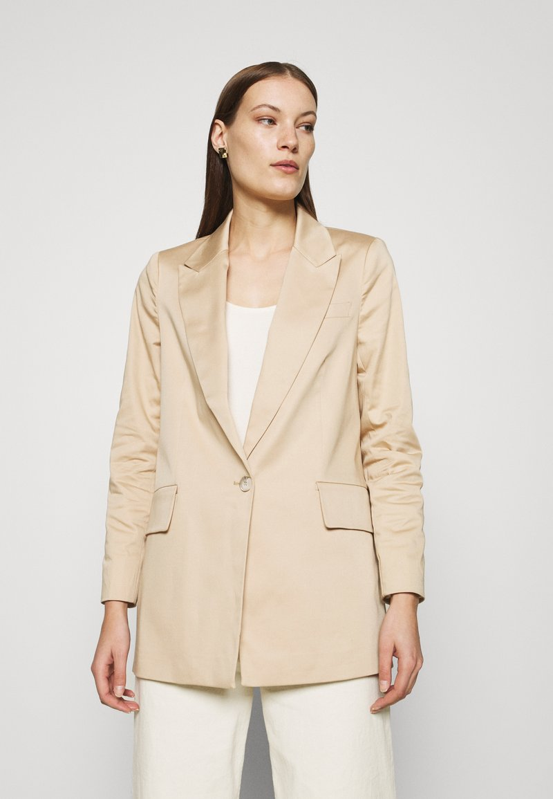 ALIGNE - Krótki płaszcz - stone
