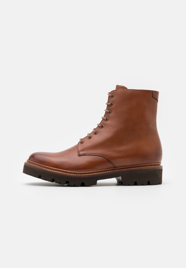 HADLEY - Bottines à lacets - tan