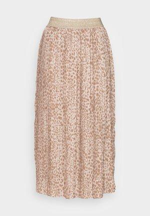 SKIRT PLISSEE - Pleated skirt - beige