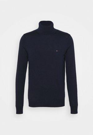 FINE GAUGE LUXURY ROLL - Stickad tröja - blue