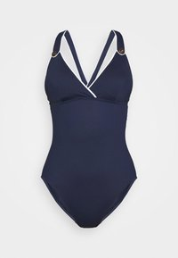 PIPED X BACK - Swimsuit - blue