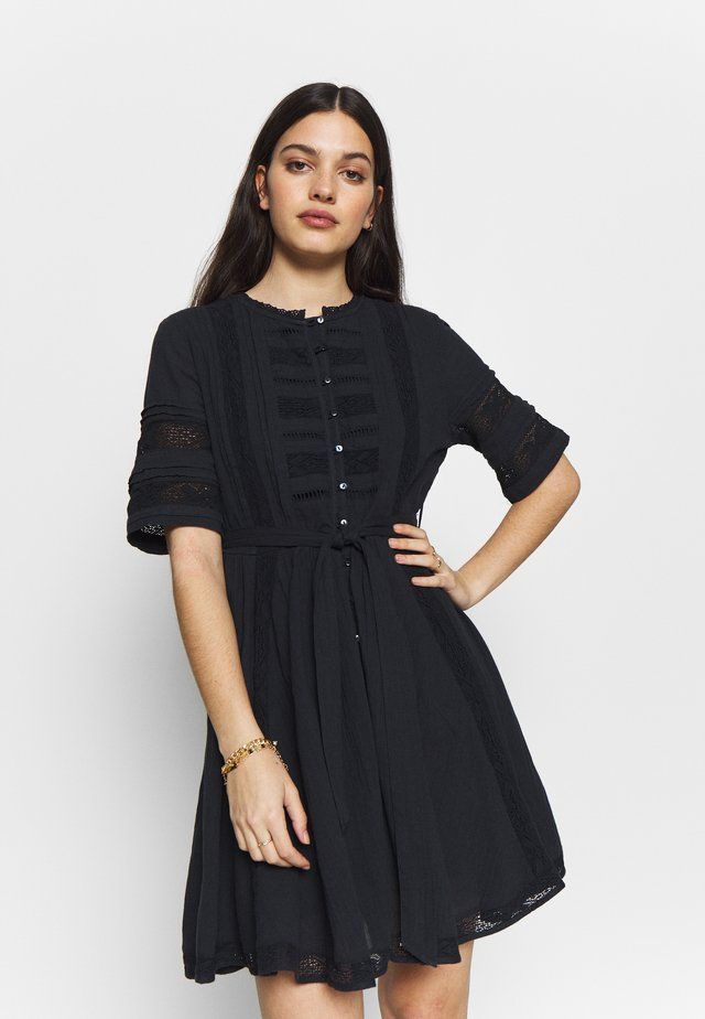 ELLISON TEXTURED DRESS - Day dress - atlantic navy