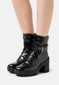 Madden Girl - COCO - Lace-up ankle boots - black paris - 0