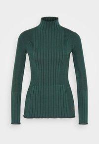 Victoria Victoria Beckham - TURTLENECK JUMPER - Sweter - emerald green - 6