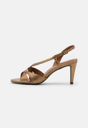 SIMA - Sandály na vysokém podpatku - bronze