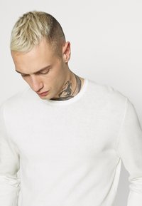 Only & Sons - ONSGARSON LIFE WASH CREW - Jumper - star white - 3