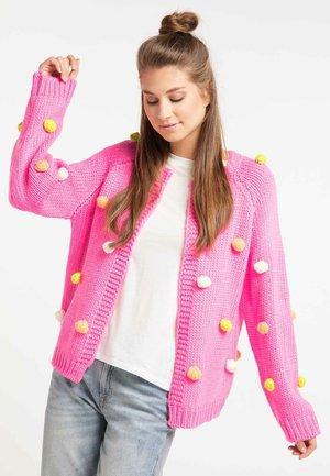 Strikjakke /Cardigans - neon pink