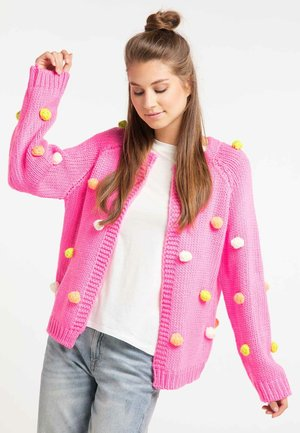 Strickjacke - neon pink