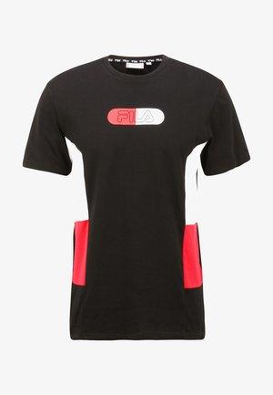 JALEN - Print T-shirt - black-bright white-true red