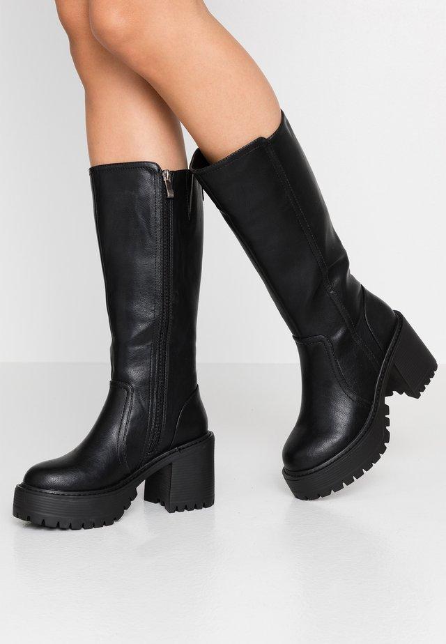 BOR - Platåstøvler - black