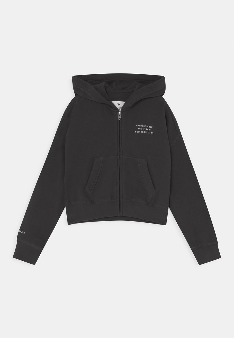 Abercrombie & Fitch - SOLID - Sudadera con cremallera - charcoal