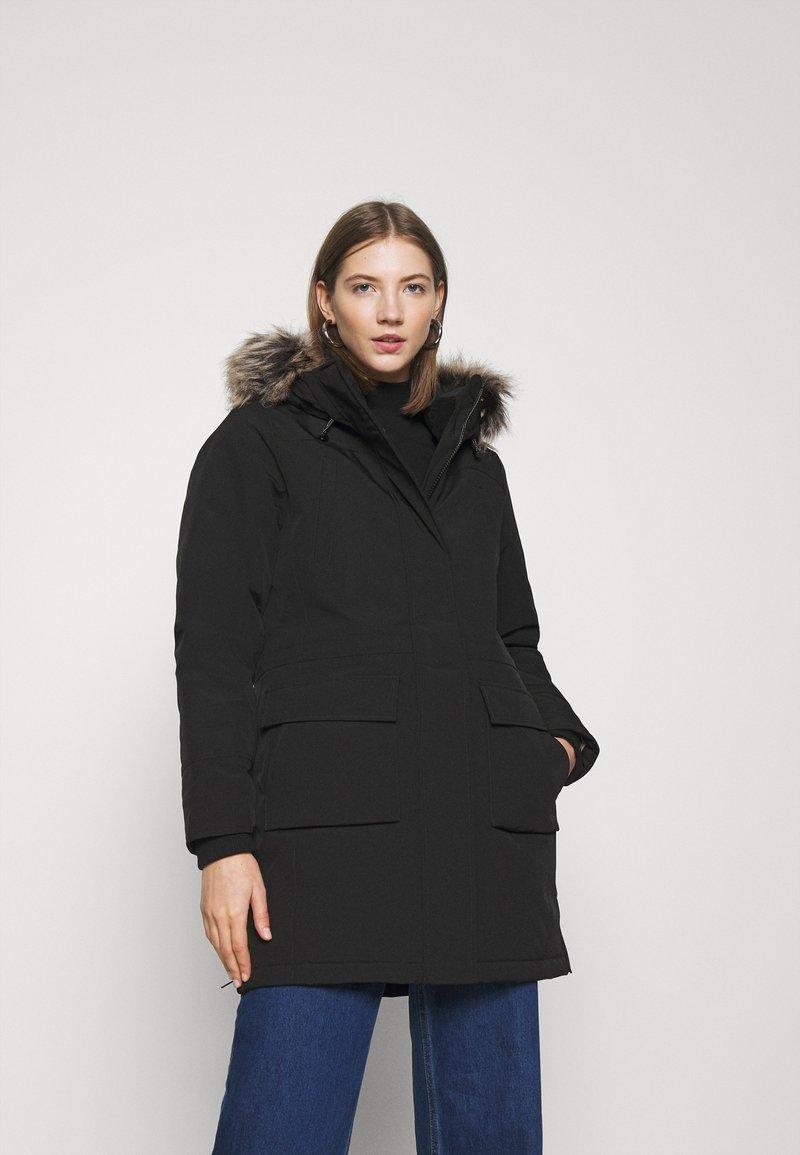 ONLY - ONLNEWSALLY LONG COAT - Vinterkåpe / -frakk - black