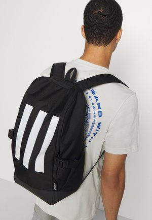 ESSENTIALS 3 STRIPES SPORTS BACKPACK UNISEX - Reppu - black/black/white