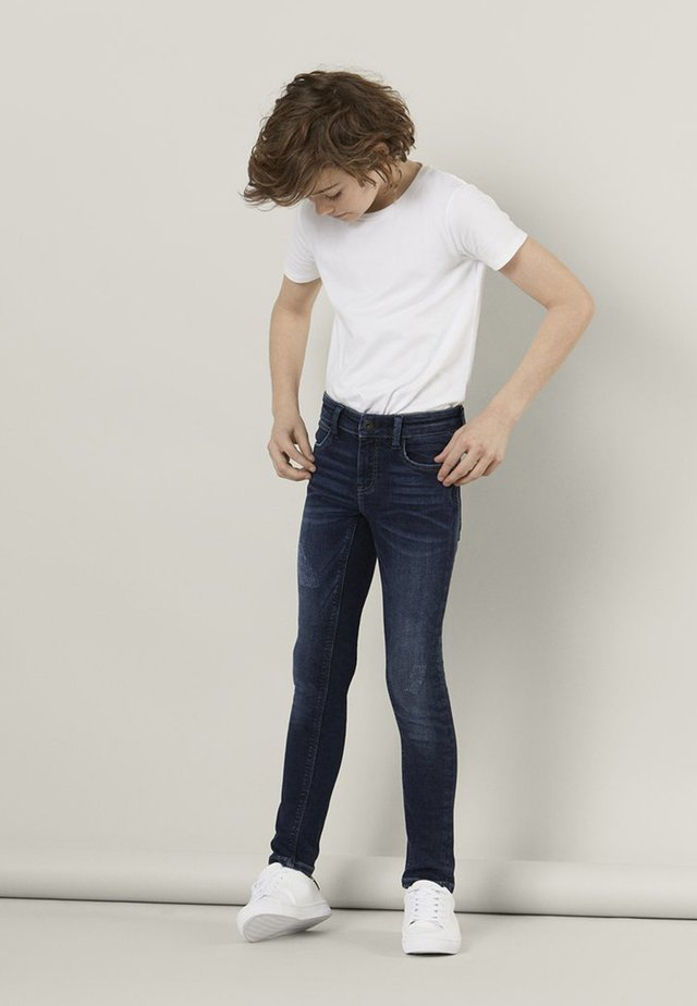POWERSTRETCH - Jeans slim fit - dark blue denim