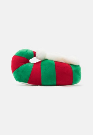 CHRISTMAS ELF SLIPPER - Chaussons - red/green