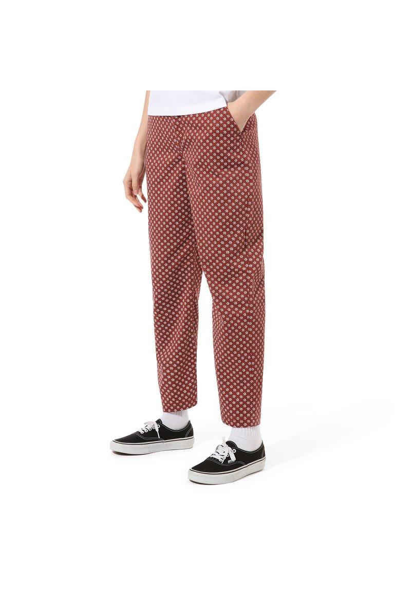 Vans - AUTHENTIC PRINT - Trousers - henna