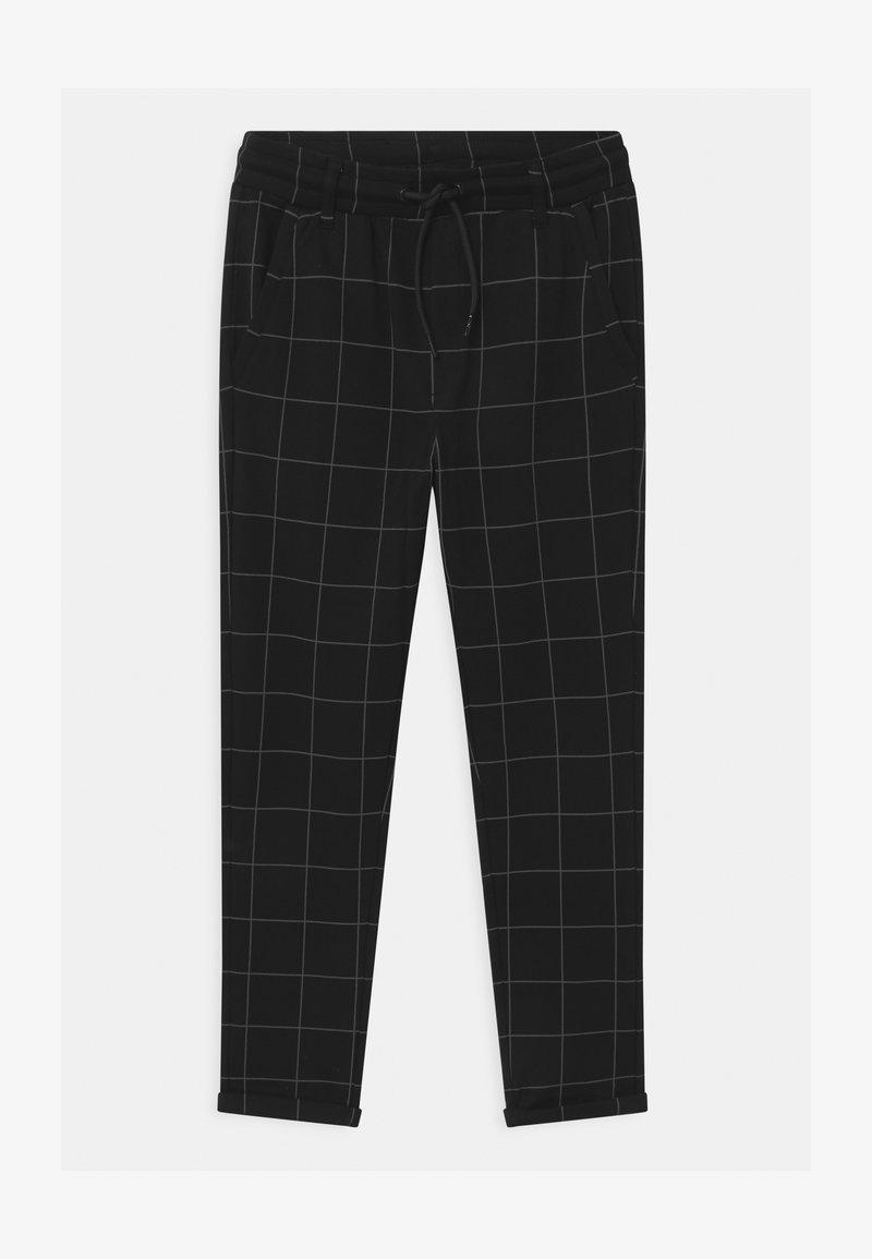 Lindex - TEEN PARTY BLACK CHECK - Teplákové kalhoty - black