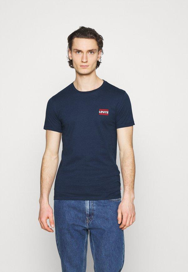 Levi's® 2PACK - T-shirt z nadrukiem - dress blues/granatowy Odzież Męska GWDS