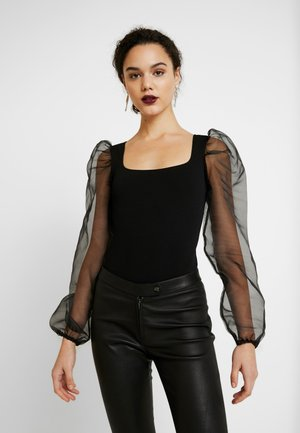 SLEEVE BODYSUIT - Long sleeved top - black