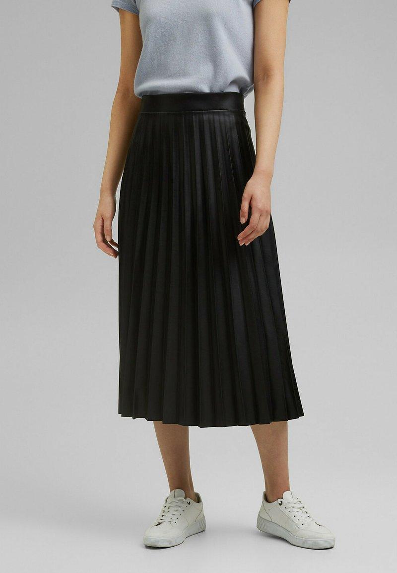 Esprit Collection - Jupe plissée - black