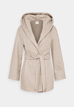 ONLTRILLION BELT HOODIE COATIGAN - Short coat - sand