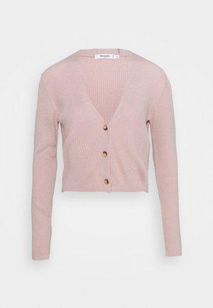 CROP - Chaqueta de punto - pink