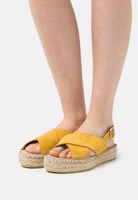 Steven New York - MARLIE - Platform sandals - yellow - 0