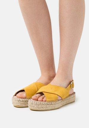 MARLIE - Platform sandals - yellow