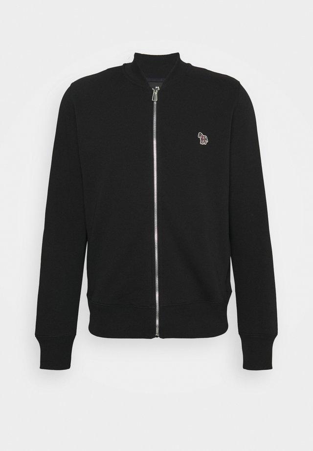REG FIT ZIP UNISEX - Felpa con zip - black