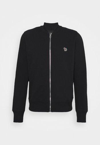 REG FIT ZIP UNISEX - Zip-up sweatshirt - black