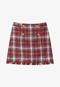 Stradivarius - A-line skirt - red - 4
