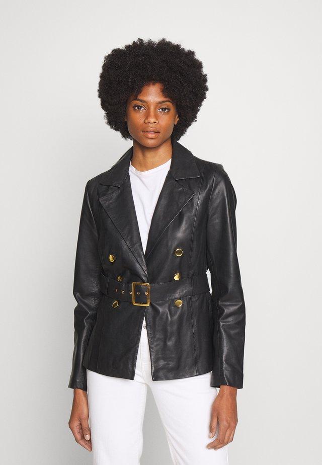 DUNE - Leather jacket - black