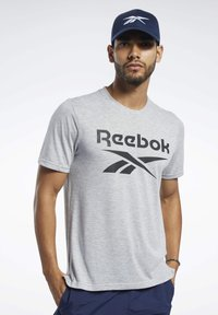 Reebok - SPEEDWICK SPORT SHORT SLEEVE GRAPHIC TEE - Camiseta estampada - grey - 0