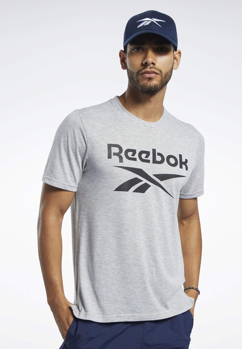 Reebok - SPEEDWICK SPORT SHORT SLEEVE GRAPHIC TEE - Camiseta estampada - grey