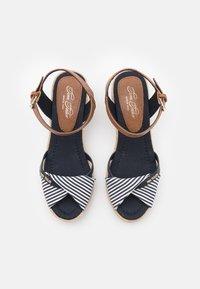TOM TAILOR - Wedge sandals - navy - 5