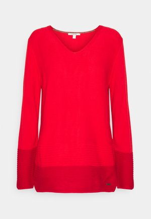 CORE VNECK - Jumper - red