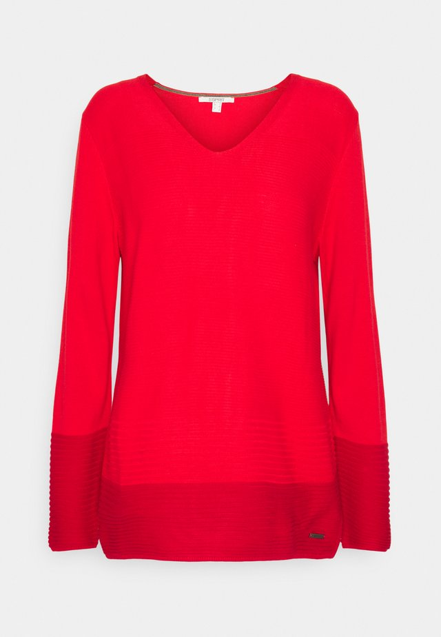 CORE VNECK - Jersey de punto - red