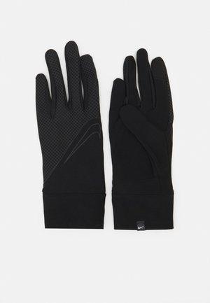WOMENS LIGHTWEIGHT TECH RUNNING GLOVES - Gloves - black/silver